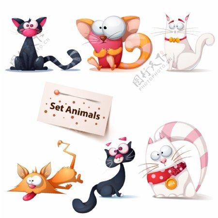 卡通搞笑猫咪