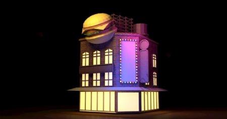 欧式建筑c4d模型