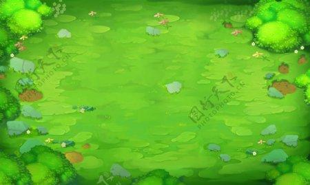 动漫动画草地场景背景
