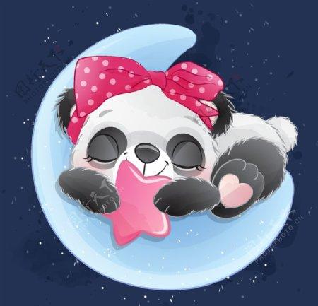 睡觉的熊猫
