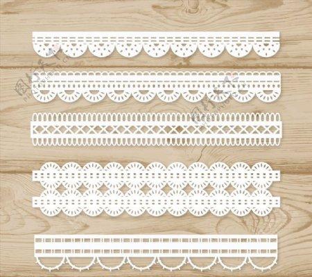 白色蕾丝花边设计矢量素材