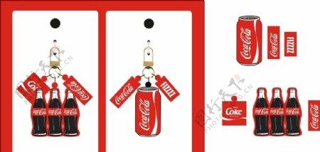 可口可乐亚克力钥匙扣瓶装罐装