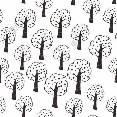 苹果树背景花纹
