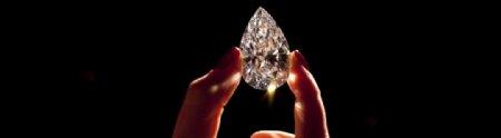 钻石闪耀珠宝手持背景素材