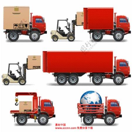 货车和叉车