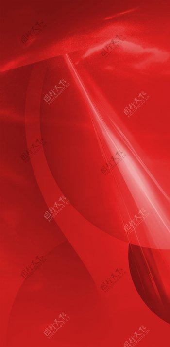 红底地产质感背景大红