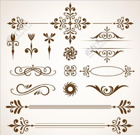 欧式花纹中式花纹花边边框
