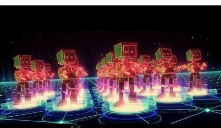 卡通魔幻机器人舞蹈酷炫卡通魔幻