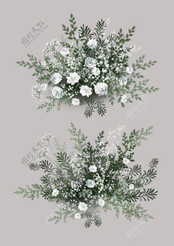 婚礼婚庆花艺手绘花蕾丝