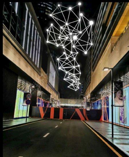 铭星工厂设计制作安装户外跨街灯