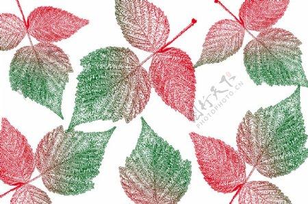 叶子平铺背景图
