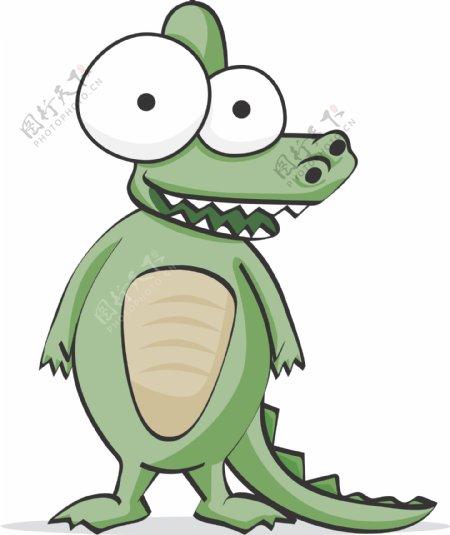 鳄鱼搞笑搞怪动物卡通大眼睛