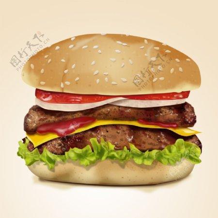 汉堡美食标志图标图形素材