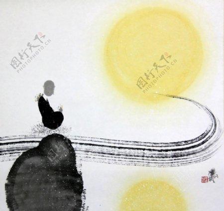 新中式禅意装饰画图片