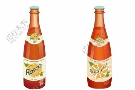 实物饮料瓶AI绘制图片
