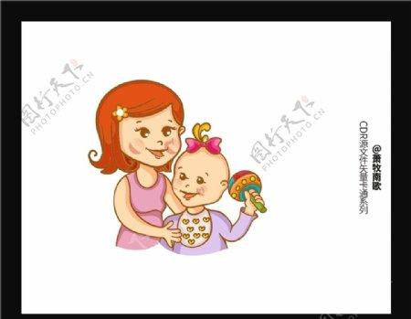 可爱宝宝CDR矢量图图片