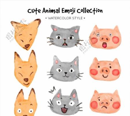 可爱动物表情图片