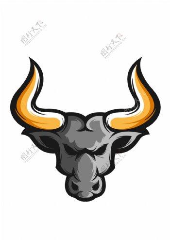 牛头标识标志图标海报素材图片