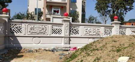 别墅围墙雕刻图片