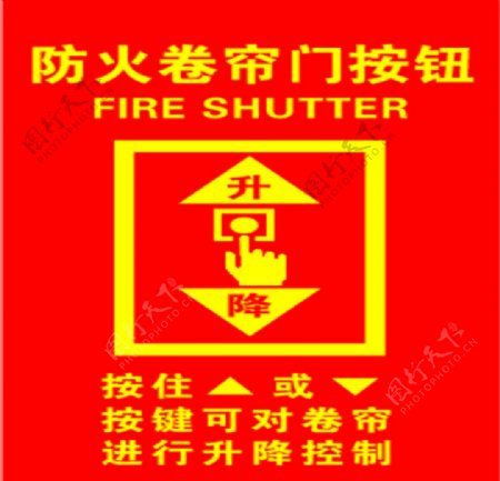 防火卷帘门按钮升降控制图片