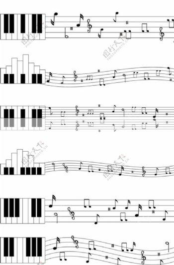 音符音乐五线谱图片