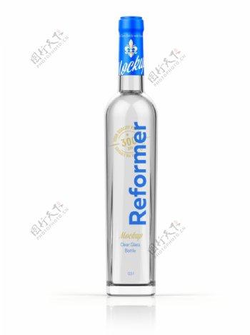 透明酒瓶分层明细图片