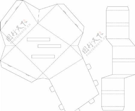 包装设计盒子刀模图片