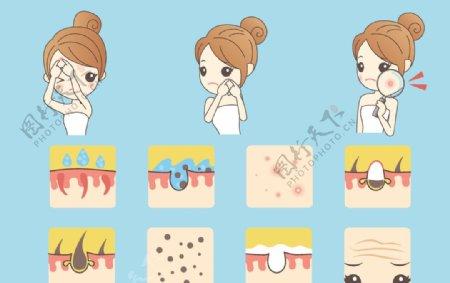 精致女孩美容护肤瑜伽图片