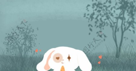 可爱呆萌白色小狗图片