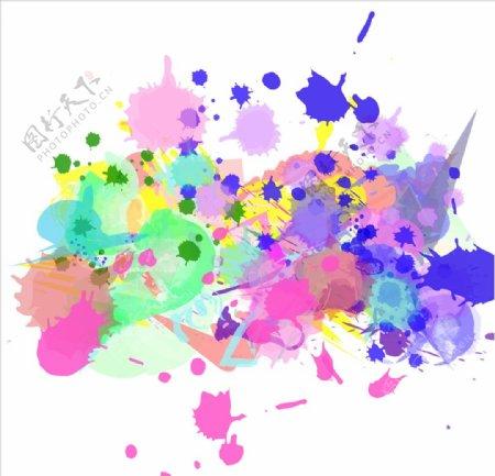 色彩涂鸦海报图片