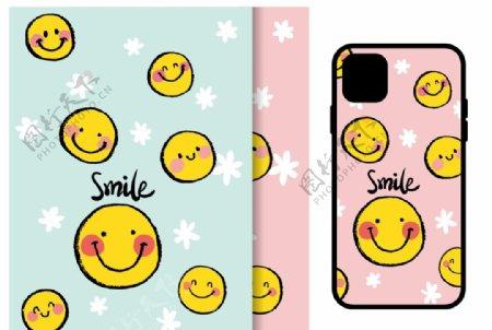 手绘笑脸手机壳图案smile图片