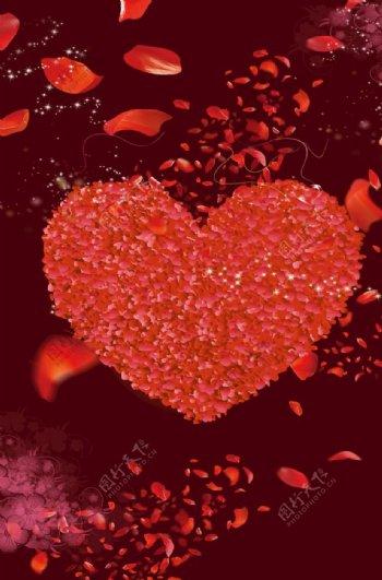 2020情人节大红背景图片