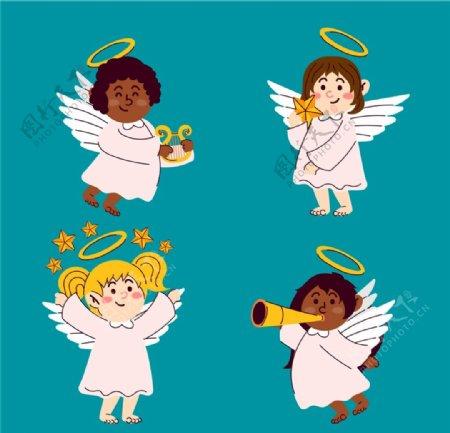 可爱微笑天使图片