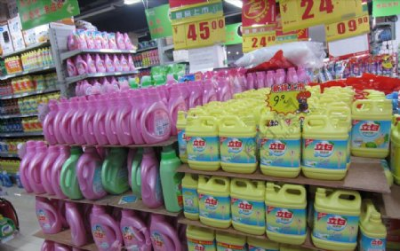 立白洗洁精洗衣液专业卖场图片