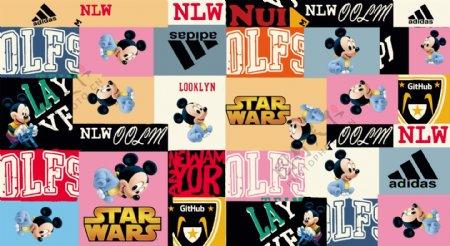 大牌米老鼠字母组合图片
