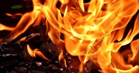 火火焰碳烧伤热心情图片