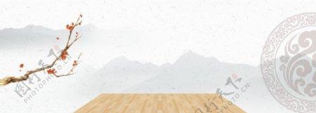 简约木板背景图片