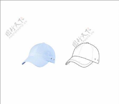 帽子矢量线条图片