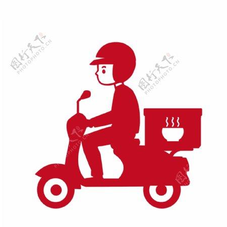 外送服务外卖小人骑车图片