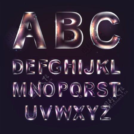 透明英文字母图片