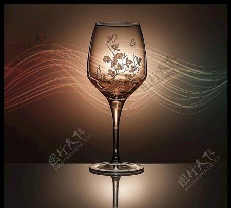 酒杯高级花纹图片