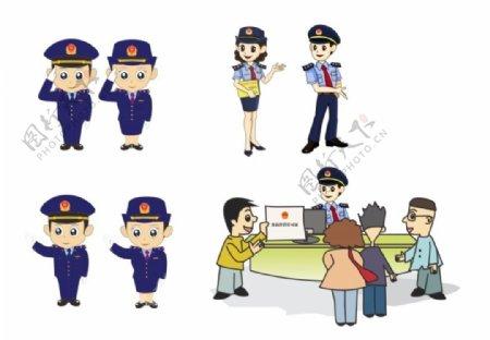 市场监督管理工作人员卡通图片