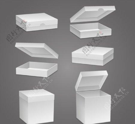 立体空白纸盒图片