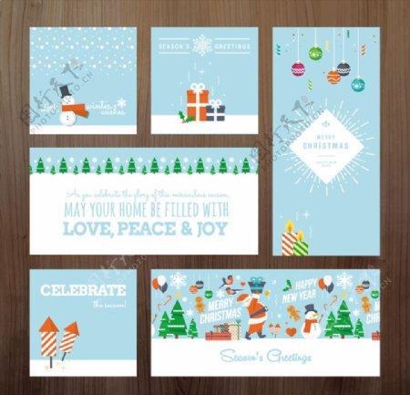 圣诞祝福卡矢量图片