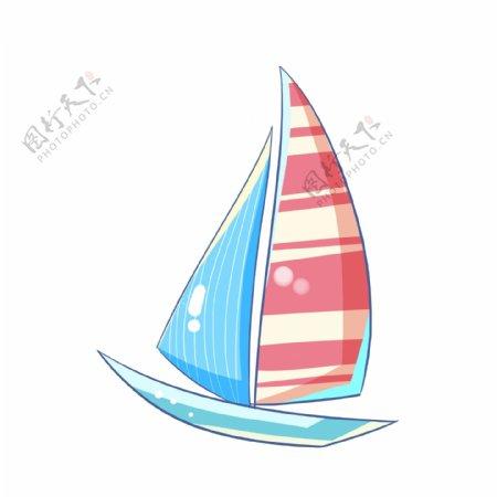 渐变手绘帆船图片