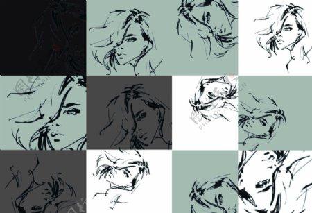 女人简笔画图片