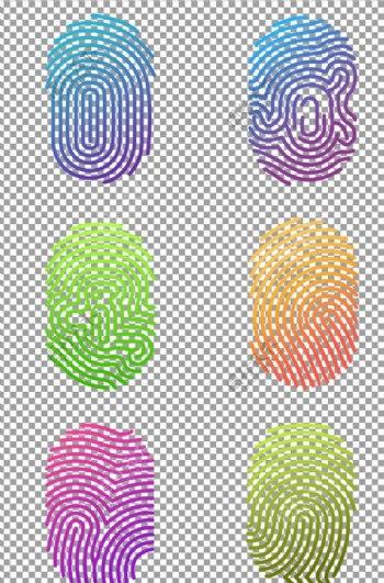 科技感指纹图标图片