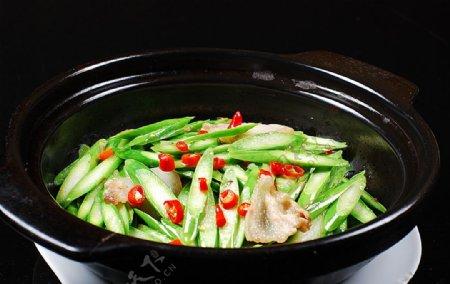 淮扬菜砂锅鲜芦笋图片