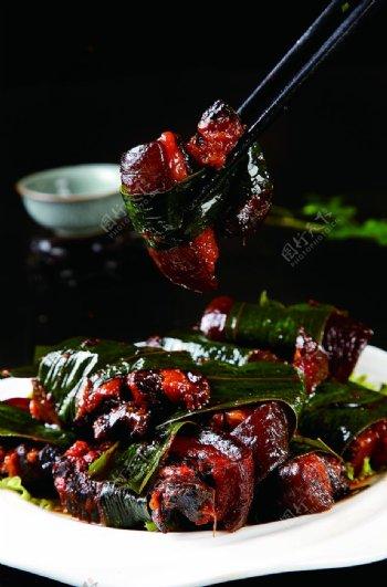 特色菜粽香坛子肉图片