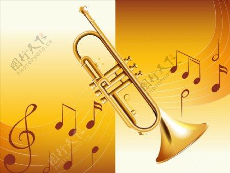 音符与乐器图片